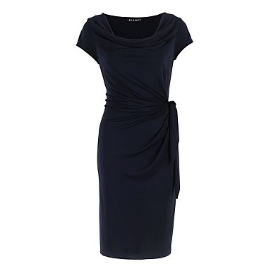 Navy Jersey Knot Dress - Day dresses - Dresses - Women -