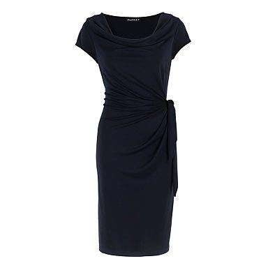 Navy Jersey Knot Dress - Day dresses - Dresses - Women -
