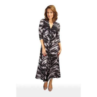 Shadow Zebra Print Maxi Dress