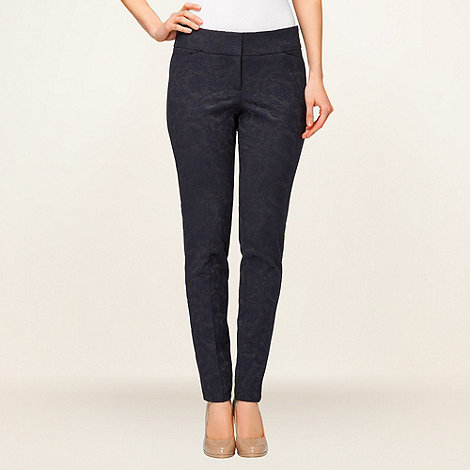 Phase Eight - Navy Emily Jaquard Trousers