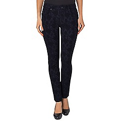 Phase Eight - Black and Navy lexi lace jeans
