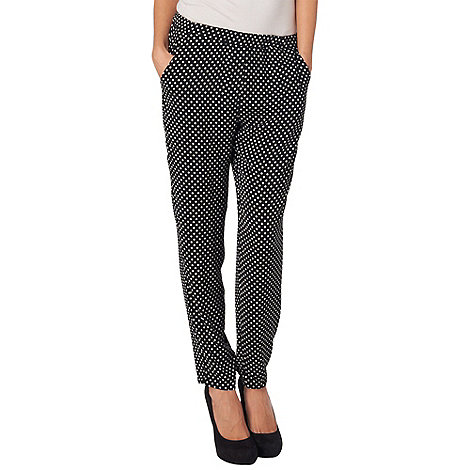 Phase Eight - Black and Ivory lulu geo printed trousers