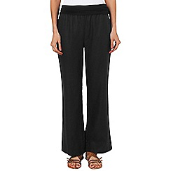 Phase Eight - Black june jersey waist linen trousers