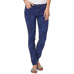 Phase Eight - Blue victoria floral jacquard jeans
