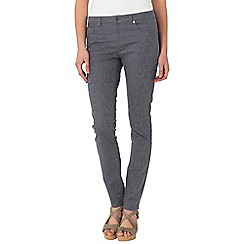 Phase Eight - Charcoal isla floral jacquard jeans