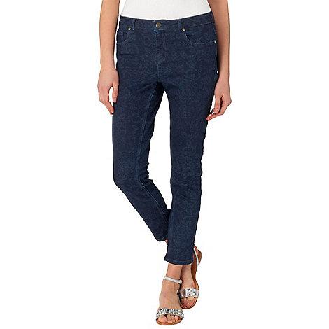 Phase Eight - Indigo georgia floral 7/8 jeans