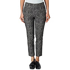 Phase Eight - Black and Ivory Madison trousers
