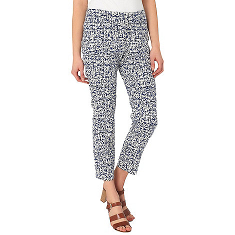 Phase Eight - Ivory and Blue erica 7/8 trousers