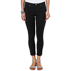 Phase Eight - Black tess 7/8 jacquard jeans
