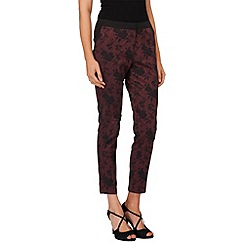 Phase Eight - Wine and black trina jacquard trousers