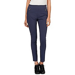 Phase Eight - Navy smart amina zip jeggings