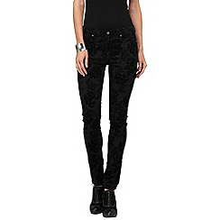 Phase Eight - Black victoria flocked jeans