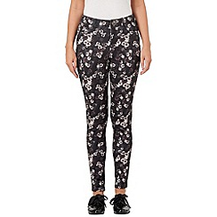 Phase Eight - Grey and Black zoe floral trousers