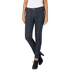 Phase Eight - Indigo and Bordeaux victoria checked jeans