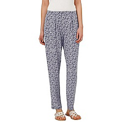 Phase Eight - Navy and ivory shae spot trousers