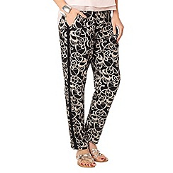 Phase Eight - Black and Putty bridgette soft print trousers
