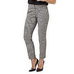 Phase Eight - Black and Ivory erica oval trousers