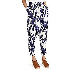 Phase Eight - White Pia Print Trousers
