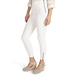 Phase Eight - White Amina Zip 7/8th Jeggings