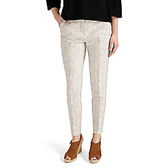 Phase Eight - White Erica Jacquard Trousers