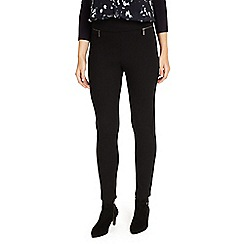 Phase Eight - Black natalie ponte triple zip trousers