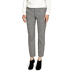 Phase Eight - Black and Ivory tyna gingham trousers