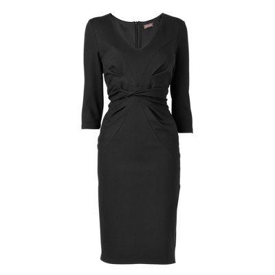 Black Chiffon Dress on Black Seam Detail Ponteroma Dress   Suit Dresses   Dresses   Women