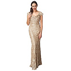 Phase Eight - Collection 8 gold pippa embellished lace dress
