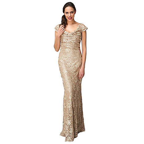 Phase Eight - Gold Pippa Embellished Lace Dress
