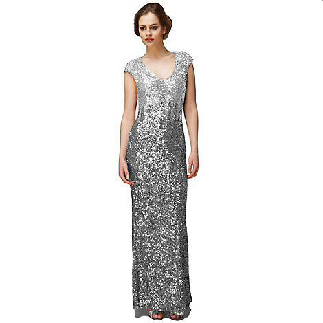 Phase Eight - Charcoal And Silver Collete Sequin Full Length Dress