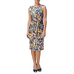 Phase Eight - Multi-Coloured Jewels Print Side Ruched Dress