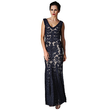 Phase Eight - Navy Paloma Full Length Dress