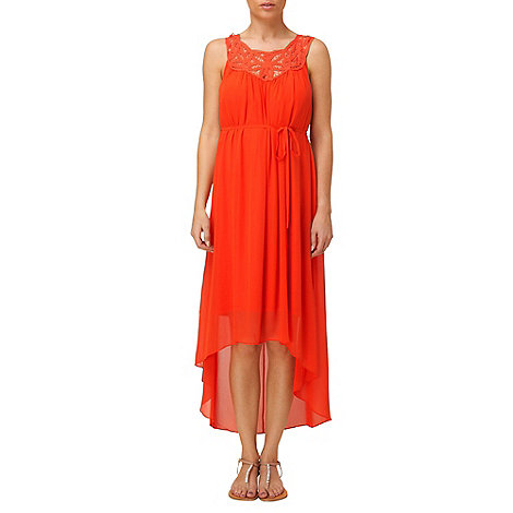 Phase Eight - Tangerine viva battenburg eclipse hem dress