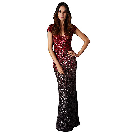Phase Eight - Collection 8 ruby and bronze collette sequin full length dress