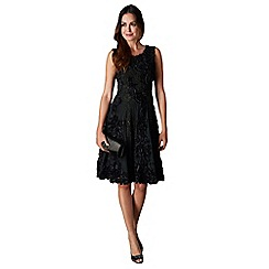 Phase Eight - Black callula fit and flare dress