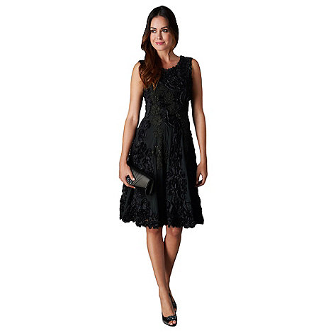 Phase Eight - Collection 8 black callula fit and flare dress