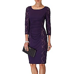 Phase Eight - Blackcurrant latoya lace miracle dress
