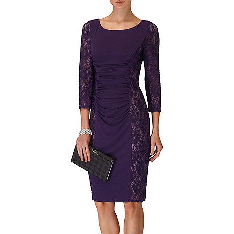 Phase Eight - Blackcurrant latoya lace miracle dress