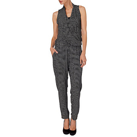 Phase Eight - Black and Ivory lulu geo print jumpsuit