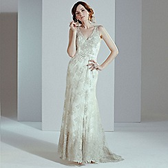 Phase Eight - Antique camellia wedding dress
