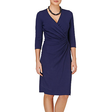 Phase Eight - Navy jerry cross front dress