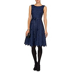 Phase Eight - Blue fabia embroidered fit and flare dress