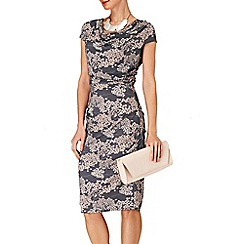 Phase Eight - Pink and Grey pagoda print dress
