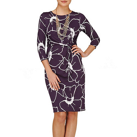 Phase Eight - Damson and Stone molly print dress