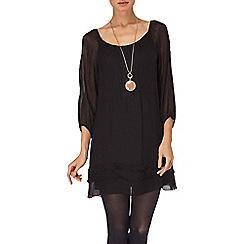 Phase Eight - Chocolate mimi silk 3/4 sleeve dress