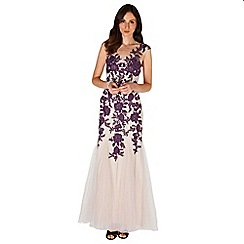 Phase Eight - Collection 8 nude and blackcurrant rita tulle full length dress