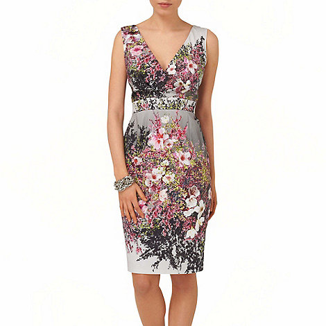 Phase Eight - Multi-coloured blossom print dress