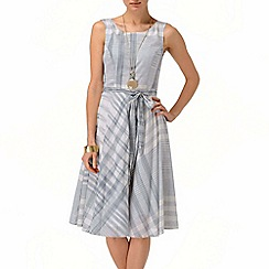 Phase Eight - Charcoal and White renee check fit and flare dress