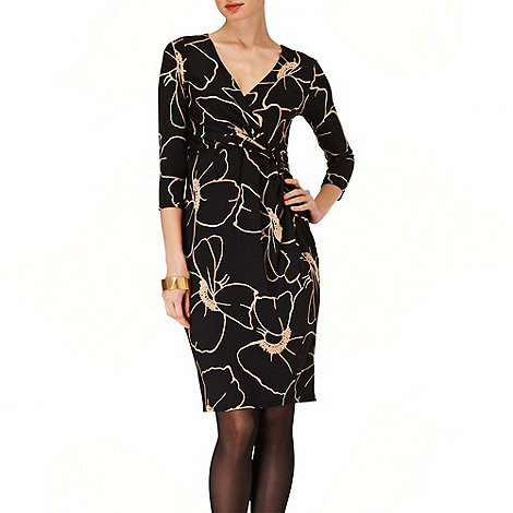Phase Eight - Black and Stone molly wrap dress