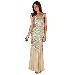 Phase Eight - Collection 8 gold luna sequin full length dress